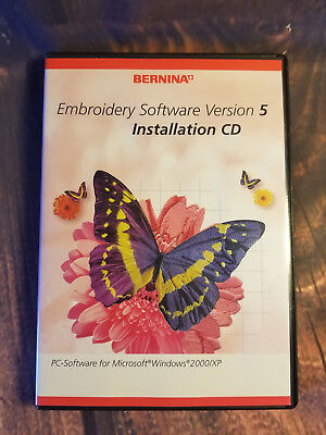 Bernina Embroidery Software 5 Installation & Training CD Excellent Condition