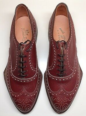 1930s~FRANK BROTHERS NYC~True SPADE SOLE Custom WING TIP Men's SHOES~Size 9-91/2