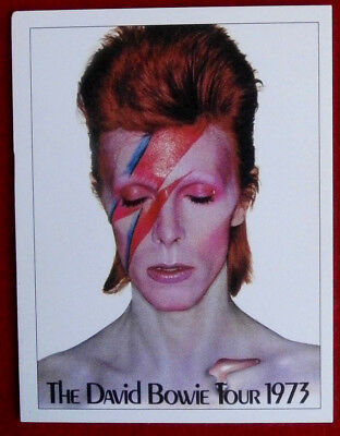 DAVID BOWIE - Individual Trading Card - Card #01 - The David Bowie Tour 1973