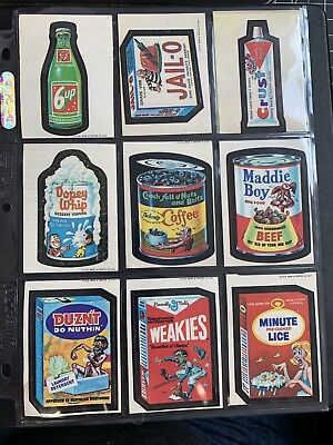 1973 Topps Wacky Packages Original 1st Series Set of 10 RARE TAN BACKS Nice