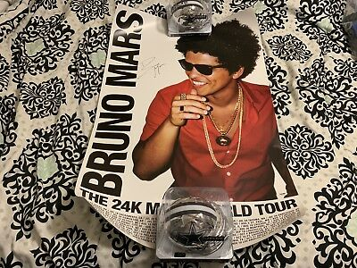 BRUNO MARS signed auto 24K MAGIC US TOUR POSTER PSA/DNA COA 24x36