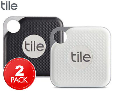 Tile Pro Bluetooth Tracker 2-Pack - Jet Black/Graphite/White