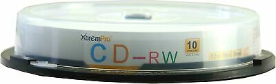 XtremPro CD-RW 12X 700MB 80Min Recordable CD 10 Pack Blank Discs in Spindle -...