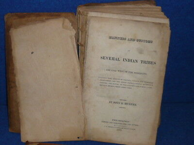 Original 1823 MANNER AND CUSTOMS OF SEVERAL INDIAN TRIBES WEST OF MISSISSIPPI !!