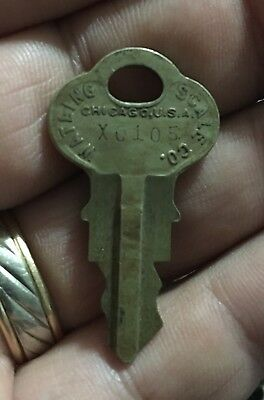 Vintage Watling Penny Scale / Slot Machine Key XO 105
