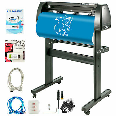 "Vinyl Cutter Plotter Cutting 34"" Sign Sticker Making Print Software 3 Blades Usb"