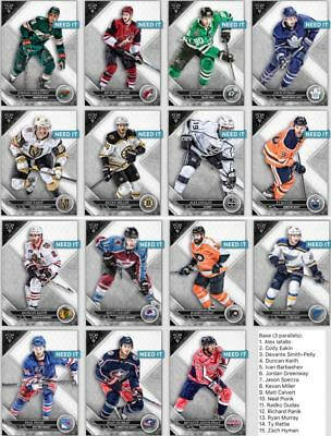 18-19 TRIPLE THREADS BASE SET OF 15 MURRAY/MILLER/+++  Topps NHL Skate Digital