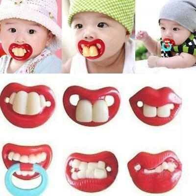 Funny Safety Baby Dummy Silicone Mustache Pacifier Feeder Nipple