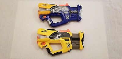 Lot of 2 Discontinued Firefly Rev-8 Nerf N-STRIKE Dart Guns Tested Work Great