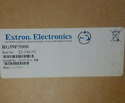 EXTRON RG59P 20 AWG 1C  CMP  HR1 1000ft  Coaxial Cable  75°C