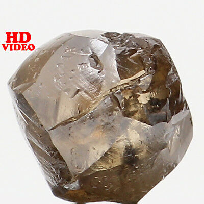 Natural Loose Diamond Brown Color Rough I1 Clarity 5.30 MM 0.86 Ct L6204