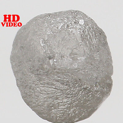 Natural Loose Diamond Rough Ice Grey Color I3 Clarity 5.50 MM 0.97 Ct L5820