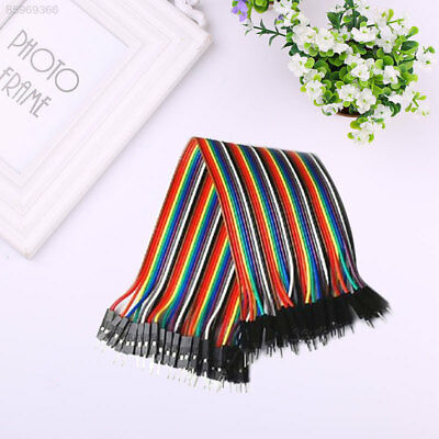 1F48 40Pcs 20cm Male To Male Multicolor Rubber Dupont Wire Jumper Cable Line