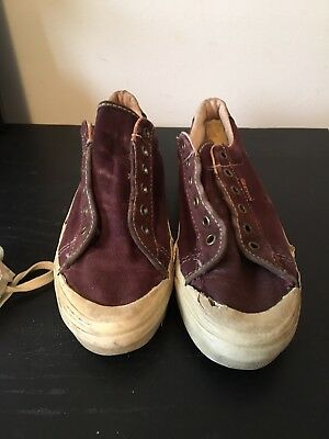 VINTAGE VANS MADE IN USA RED SHOES SIZE  7 1/2 Women