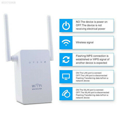 D169 300Mbps Wireless Range WiFi Repeater Signal Booster Router EU Plug White