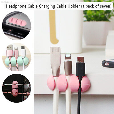 8CA7 Portable Office Data Line Home Cable Ties 7pcs Earphone Cord Organizer