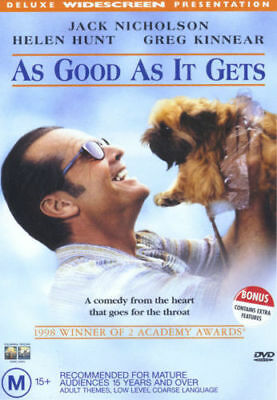 As Good As It Gets Dvd=Jack Nicholson=Region 4 Aust Release=New And Sealed