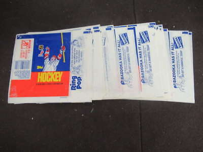 (42) 1986-87 Topps Hockey Wax Pack Wrappers Lot Patrick Roy Rookie Year M1809