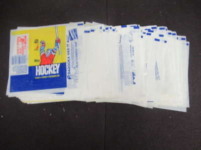 (84) 1985-86 Topps Hockey Wax Pack Wrappers Lot Mario Lemieux Rookie Year M1808