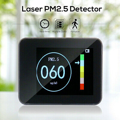 Portable Laser PM1.0 PM2.5 PM10 Detector Home Office Car Air Quality Tester LCD