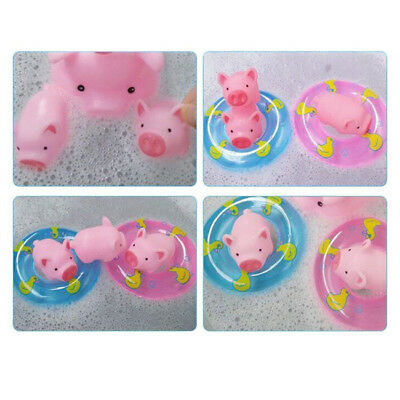 Kids  Pig Baby Bath Toy For Kid Children 10pcs Pink  Rubber Toys Set SH