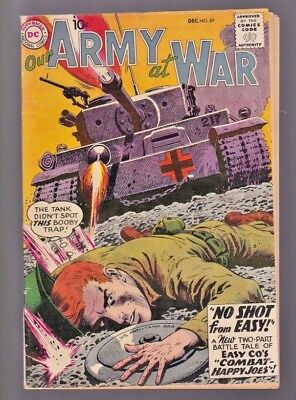 Our Army At War (LOT) #86,87,88 and 89!  Heath/Kubert and Sgt ROCK