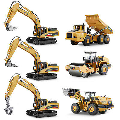 1:50 Alloy Excavator Car Truck Construction Vehicle Diecast Model Car Kids Toys