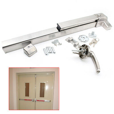 New EMERGENCY PANIC EXIT DEVICE DOOR PUSH BAR SAFETY EXIT LOCK COMMERCIAL GRADE