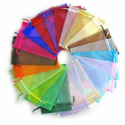 100pcs Mixed Sheer Organza Wedding Party Favor Gift Candy Bags Jewelry Pouches