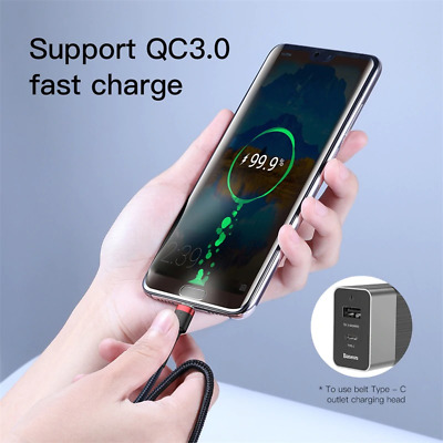 BASEUS USB-C to Type C Cable QC3.0 PD Quick Charge Data Fast Charging Sync AUS