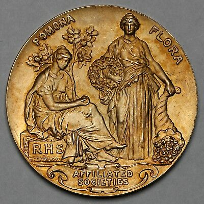 1928 Rhs Lexden & Stanway Horticultural Society Great Britain Silver Gilt Medal