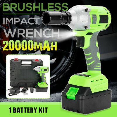 20000mAh Brushless Electric Cordless Impact Wrench LED Powerful Tool High Torque