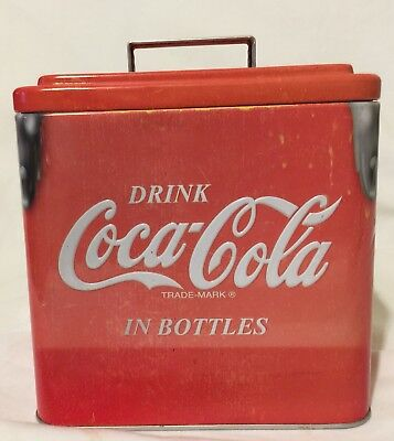Drink Coca Cola In Bottles Cooler Tin Box With Handle By Tin Box Company
