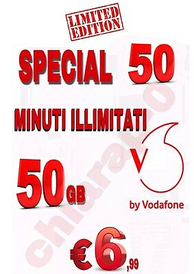 PASSA A VODAFONE Special MIN ILLIMITAT 50GB in 4.5 G TIM WIND TRE COUPON
