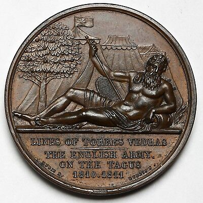 1811 Peninsular War English Army On The Tagus Great Britain Bronze Medal