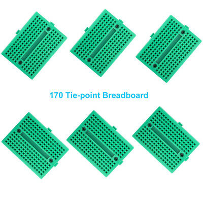 1x / 6x Green 170 Tie-point Prototype Solderless PCB Breadboard for Arduino DIY