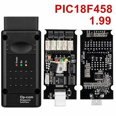 OPCOM V1.99 with PIC18F458 FTDI Diagnostic Tool CAN BUS Interface OBD2 ScannerL3