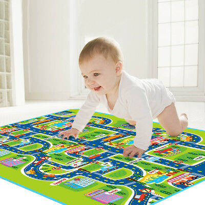 Kids Carpet Playmat Rug City Life Great For Playing &Learning With Cars and Toys