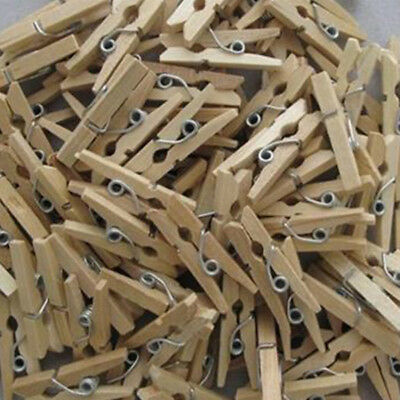 50Pc Wood Clothespins Wooden Laundry Clothes Pins Photo Paper Peg DIY Clip Clamp