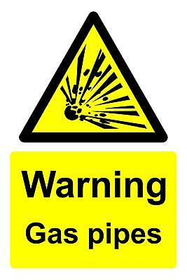 Warning gas pipes Safety signs