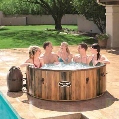 Jacuzzi Spa Inflable Bestway Helsinki 54189 Con AirJet Efecto Madera