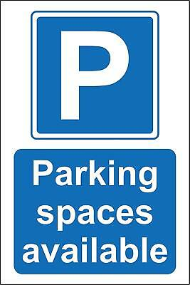 Parking spaces available Safety sign