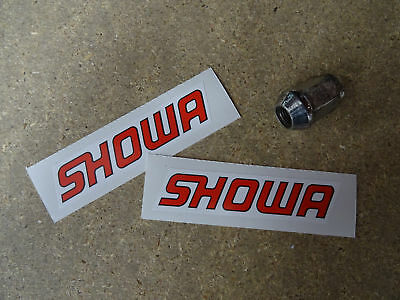 "2 x SHOWA Stickers  4"" Motorcycle Trials Bike Racing Fork"