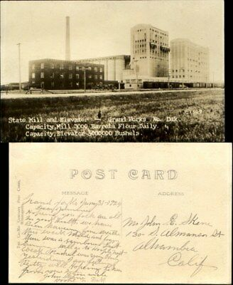 State Mill & Elevator Grand Forks North Dakota ND RPPC 1924