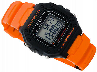 Casio collection uomo donna formato vintage led crono allarme arancio originale