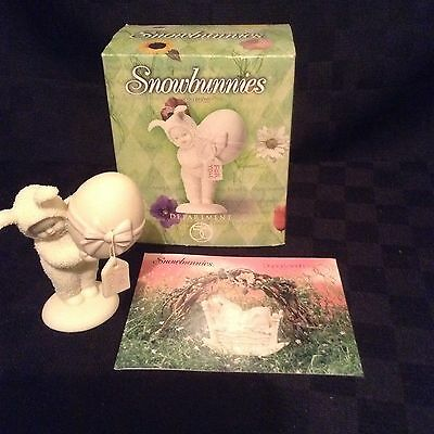 NIB Department 56 1999 Just For You Snowbunnies Figurine Christmas