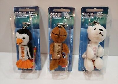 PEZ Plush Fuzzy Friends Lot of 3 Arctic Babies Seal-Polar Bear-Penguin 2006