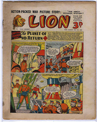 Lion 28th May 1955 (#171, high grade) Captain Condor, Amazing Advs of Mr X