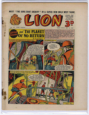 Lion 21st May 1955 (#170, high grade) Captain Condor, Amazing Advs of Mr X