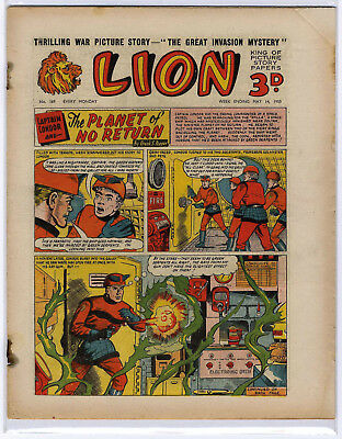 Lion 14th May 1955 (#169, high grade) Captain Condor, Amazing Advs of Mr X